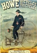 Vintage advertising poster; Howe, Bicycles and Tricycles
